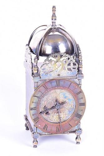 Edwardian Silver Plated Lantern Clock (1 of 4)