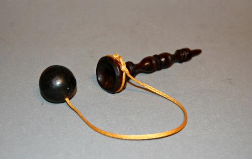 19th Century Treen Turned Hand Held Catching Toy (1 of 4)