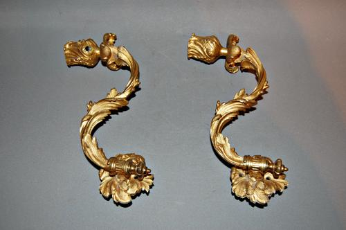 Pair of 19th Century Gilt Wall Candelabras (1 of 1)
