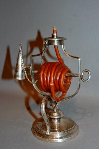 19th Century Silver Plated Wax Jack (1 of 1)