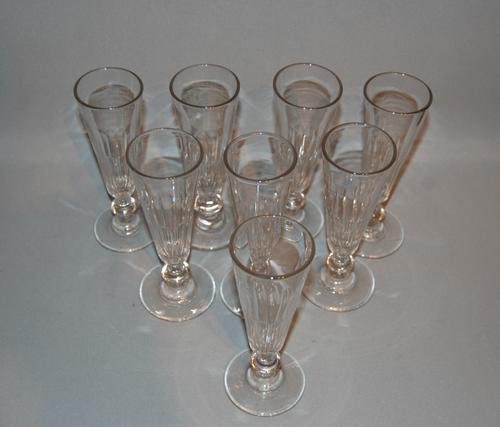 Set of 8 Georgian Champagne Flutes (1 of 1)