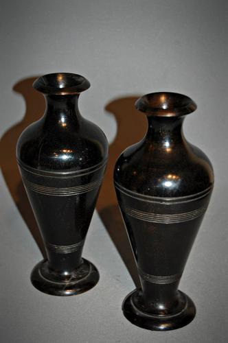 Pair of 19th Century Lignum Urns (1 of 1)