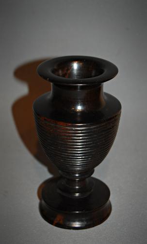 Good 19th Century Turned Lignum Spill Vase (1 of 1)