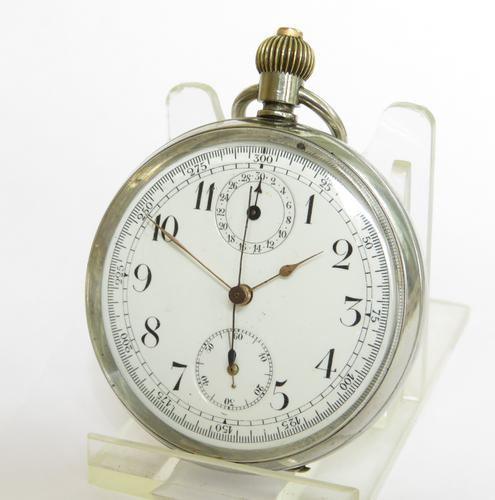 Minerva Chronograph Pocket Watch c.1920 (1 of 5)