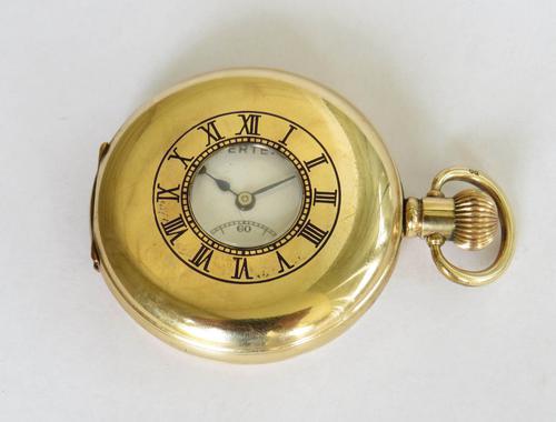 1930s Vertex Half Hunter Pocket Watch (1 of 5)