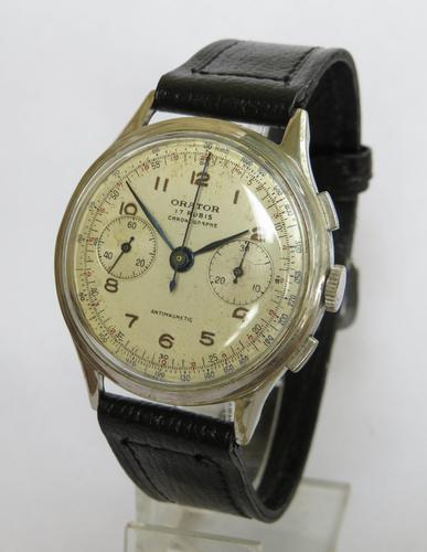 Gents 1940s Orator Wrist Watch (1 of 6)