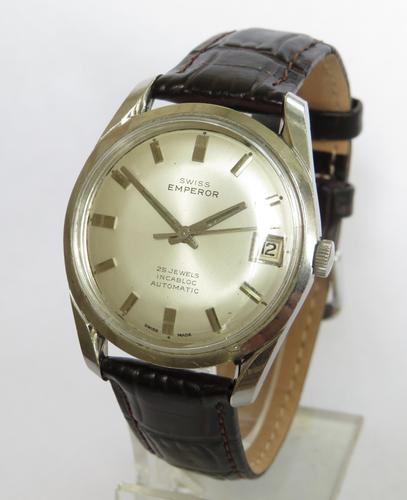 Gents 1960s Swiss Emperor Automatic Wrist Watch (1 of 5)