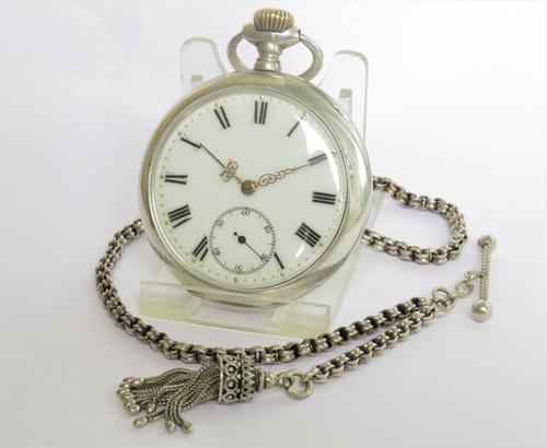 Silver La Heutte Pocket Watch by Goschler & Cie (1 of 4)