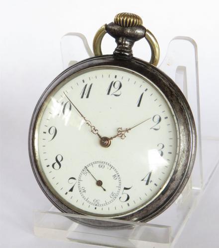 1920s Junghans Gun Metal Pocket Watch (1 of 5)