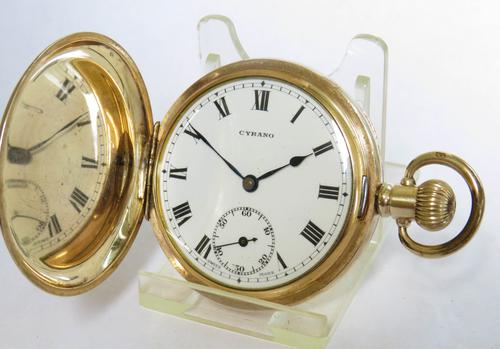 Antique Cyrano Full Hunter Pocket Watch (1 of 5)