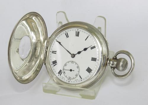 Antique Silver Stockmar Half Hunter Pocket Watch (1 of 6)
