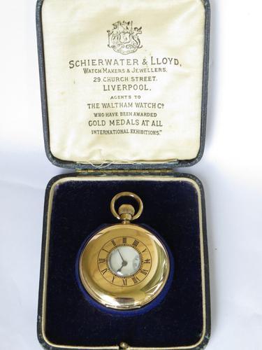 1901 Waltham Half Hunter Pocket Watch For Schierwater & Lloyd (1 of 5)