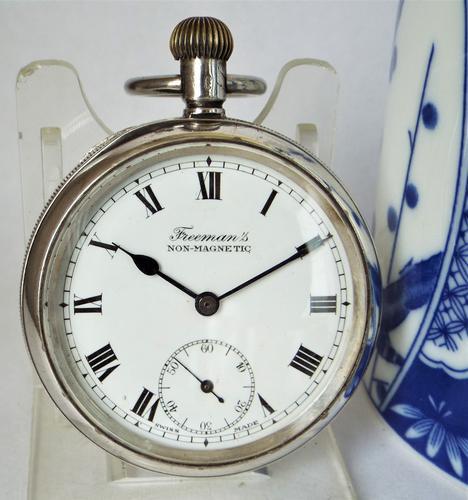 1920s Buren Imperial Silver Stem Winding Pocket Watch (1 of 5)