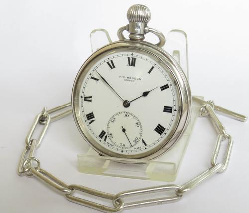 1930sSilverTavannes CymaPocket WatchFor Benson (1 of 4)