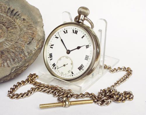 1920s Cortébert Pocket Watch & Chain (1 of 1)