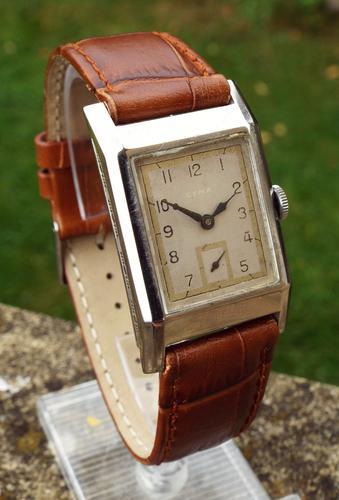 Gents 1930s Cyma Art Deco Wrist Watch (1 of 1)