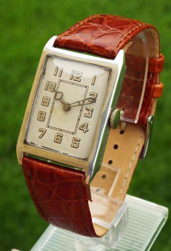 Gents 1934 Silver Lurex Wrist Watch (1 of 1)