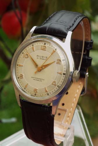 Gents 1950s Rubis Wrist Watch (1 of 1)