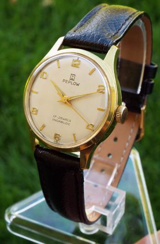 Mid-Size 1960s Peplow Hand-Winding Wrist Watch (1 of 1)