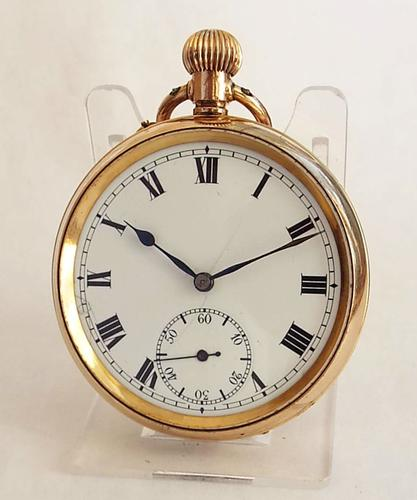 1920s Swiss Gold Plated Pocket Watch (1 of 1)