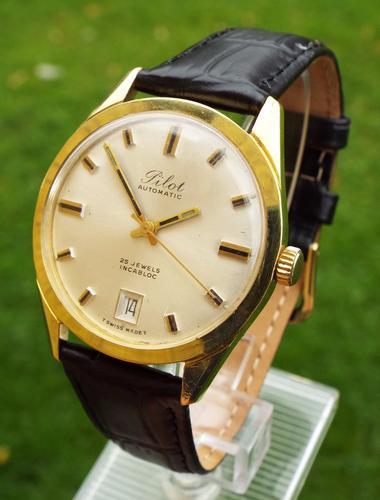 Gents 1960s Pilot Automatic Wrist Watch (1 of 1)