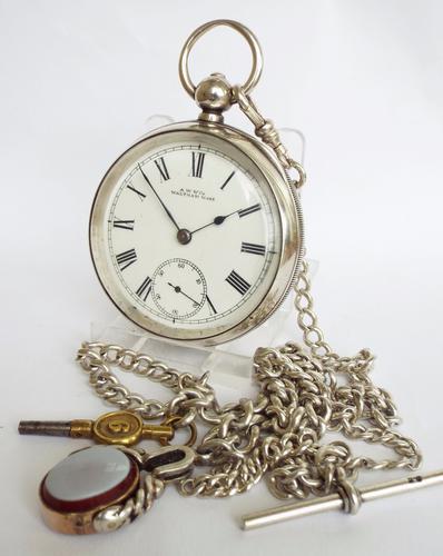 Antique Silver Waltham Pocket Watch, 1892 (1 of 1)