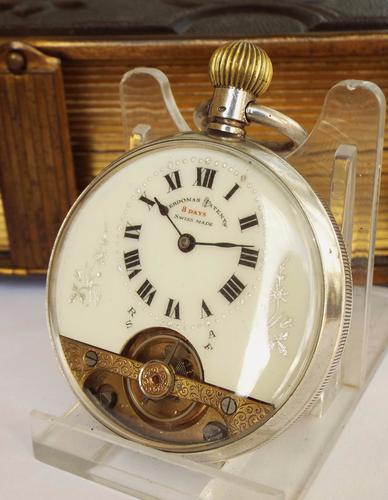 Antique Silver Hebdomas Pocket Watch, Schild & Cie (1 of 1)