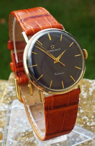 Gents 9ct Gold Eterna-Matic Centenaire Wristwatch (1 of 1)