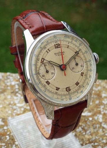 Gents 1940s Sultana Chronograph Wrist Watch (1 of 1)