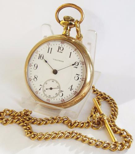 1918 Waltham P S Bartlett Pocket Watch & Chain (1 of 1)