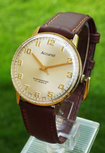 Gents 1960s Accurist Shockmaster Wrist Watch (1 of 1)