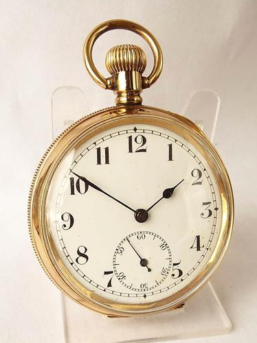 1930s Satisfaction Pocket Watch by L Tieche Gammeter (1 of 1)