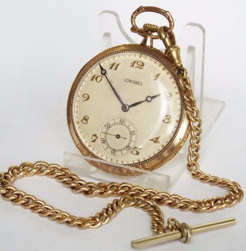 1931 Longines Pocket Watch & Chain (1 of 1)