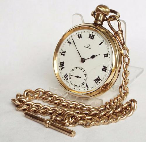 1920s Omega Pocket Watch with Chain (1 of 1)