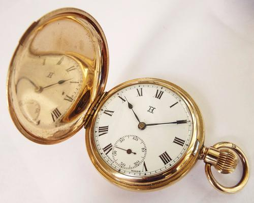 Antique Full Hunter Pocket Watch, 'the Consul' (1 of 1)
