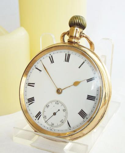 1912 Waltham Gold Plated Pocket Watch (1 of 1)