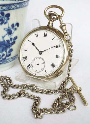 Antique Pocket Watch & Chain c.1900 (1 of 1)