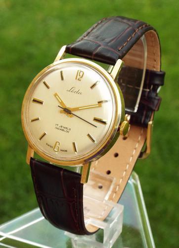Gents 9 Carat Gold Leda Wrist Watch, 1978 (1 of 1)