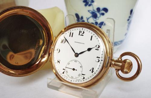 1930s Cyma Full Hunter Pocket Watch, Daily Record (1 of 1)