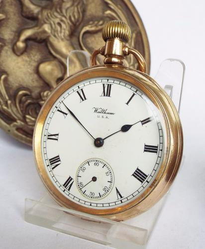 Antique Waltham Pocket Watch with Military History (1 of 1)