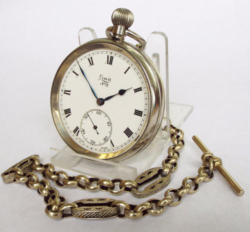 1930s Limit Pocket Watch with Chain (1 of 1)