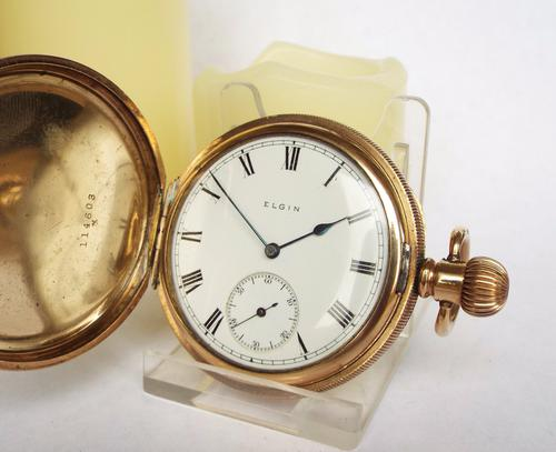 Antique Elgin Full Hunter Pocket Watch, 1912 (1 of 1)
