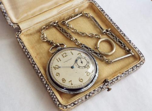 Waltham Pocket Watch with Chain 1909 (1 of 1)
