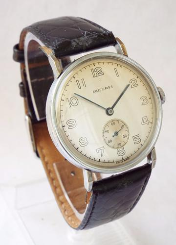 Gents 1940s Good Sized Ancre Rubis Wristwatch (1 of 1)
