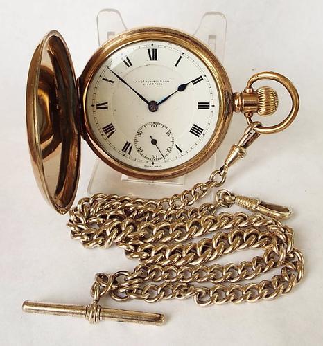 1930s Thomas Russell Full Hunter Pocket Watch (1 of 1)