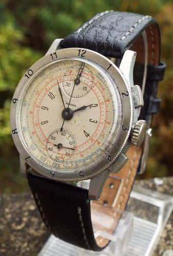 Gents 1940s Parker Chronograph Wrist Watch (1 of 1)