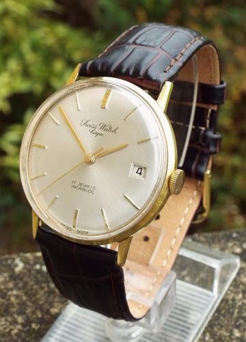 Gents 1960s Swiss Watch Corporation Wristwatch (1 of 1)