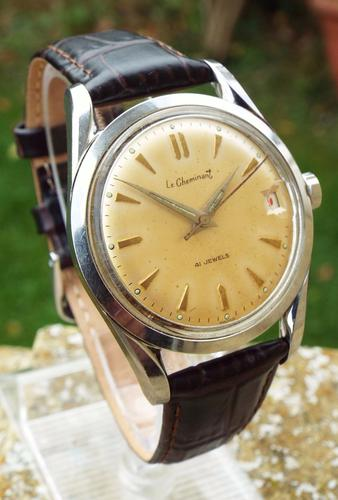 Gents 1950s Le Cheminant Wrist Watch (1 of 1)