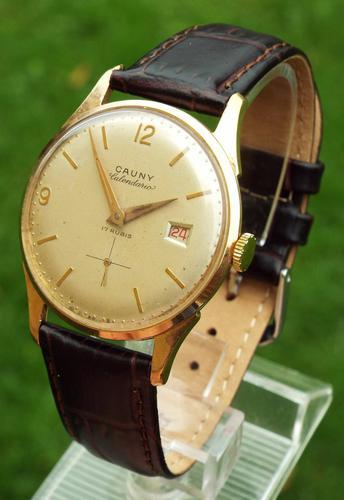 Gents 1950s Cauny Prima Calendario Wrist Watch (1 of 1)
