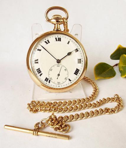1930s Buren Pocket Watch & Chain (1 of 1)